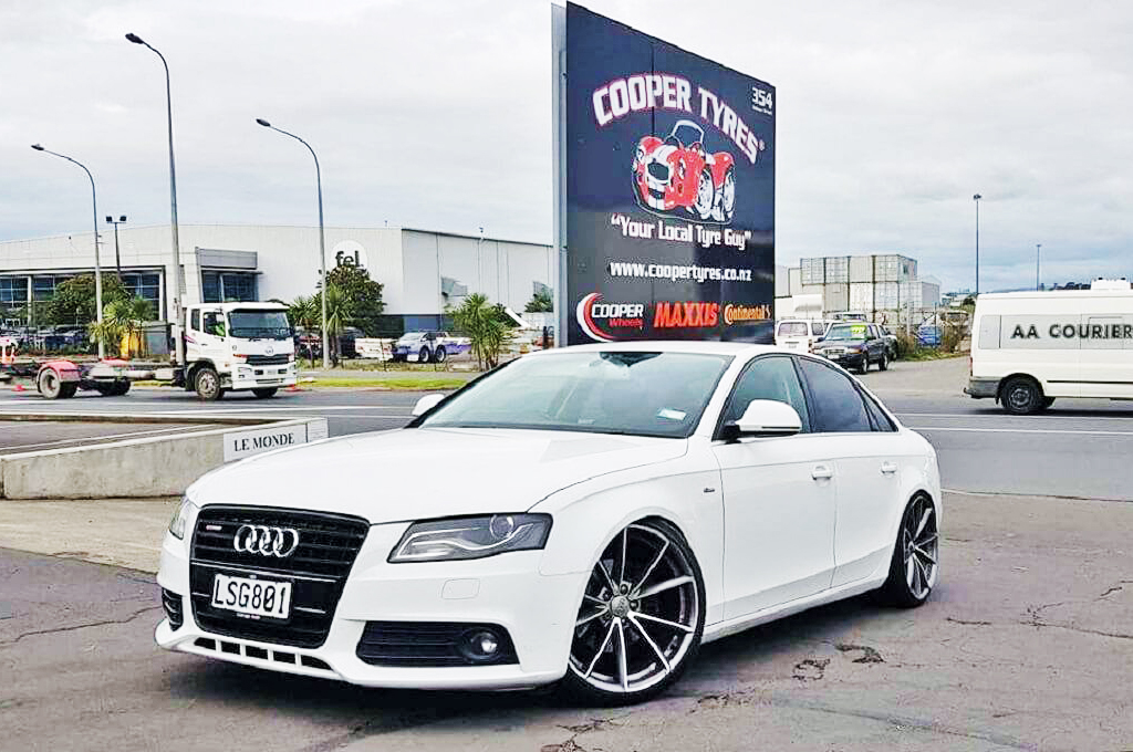 Audi A4 fitted with RS5 wheels