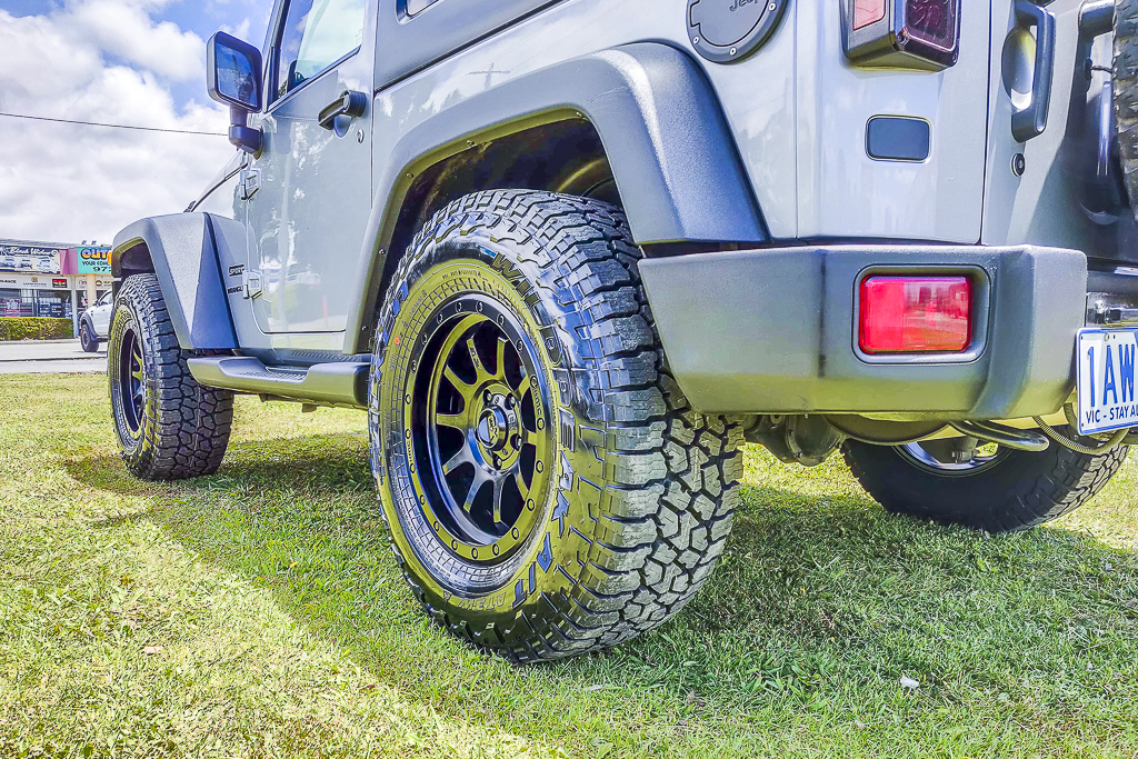Jeep Wrangler fitted with KMC wheels & Falken AT3W tyres