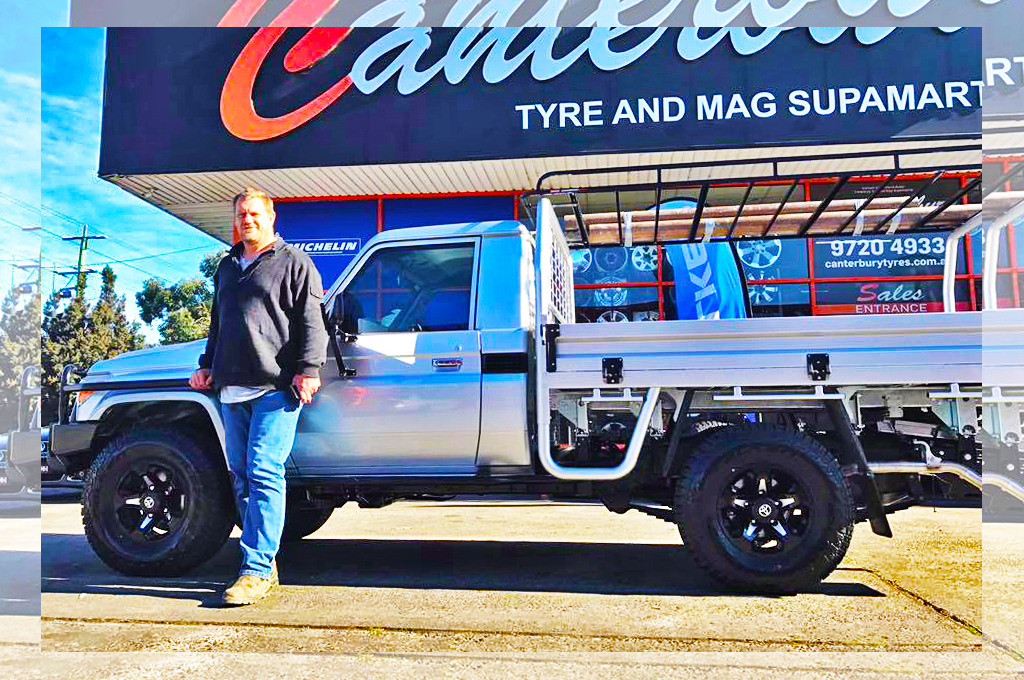 Toyota Landcruiser fiited with CTM Offroad track correction (Damien Monkhorst ex Collingwood footballer)