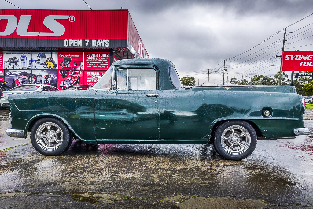 Holden FC fitted with American racing Torque Thurst